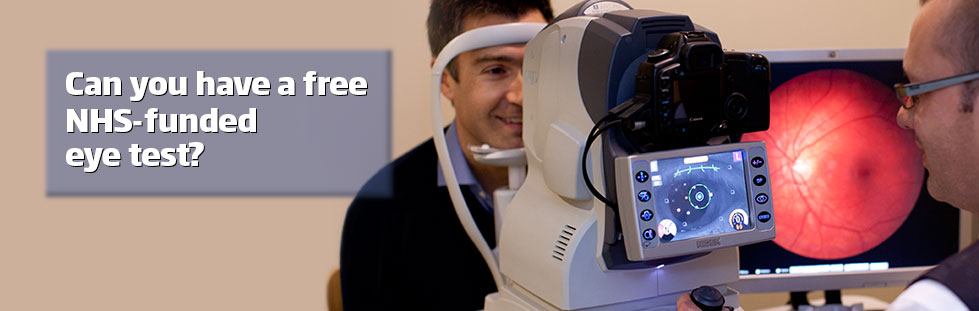 Free NHS eye tests
