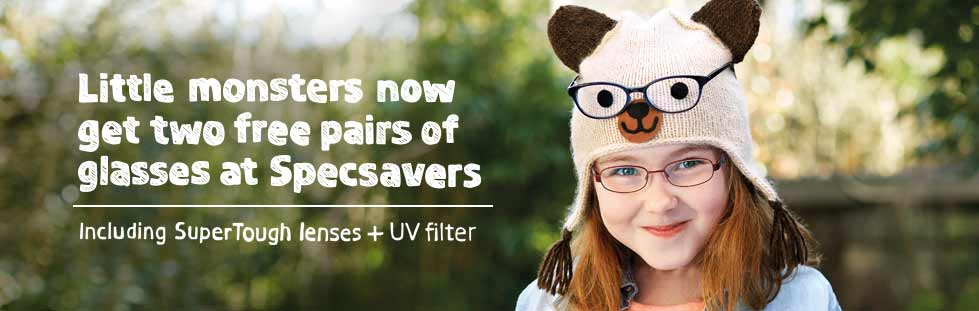Two free pairs of kids' glasses