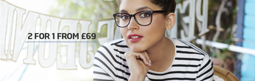 2 for 1 glasses from £69