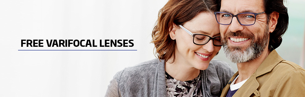 Free varifocal lenses