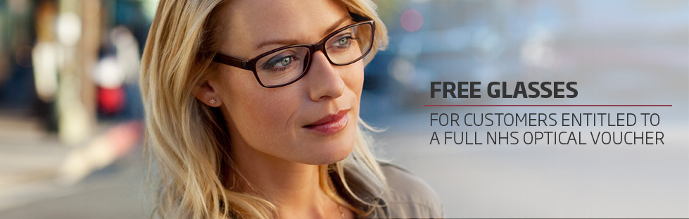Free glasses with NHS optical voucher