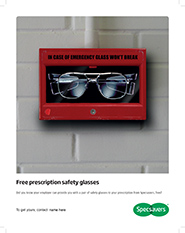 Free prescription safety glasses