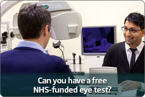 Free NHS eye test