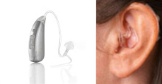Mini behind the ear hearing aid