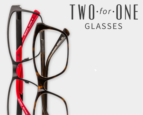 Two for one glasses from Specsavers Opticians