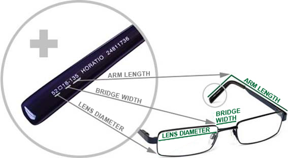 How To Measure Eyeglass Frames Width : Frame size Buyers Guide Glasses Specsavers ...