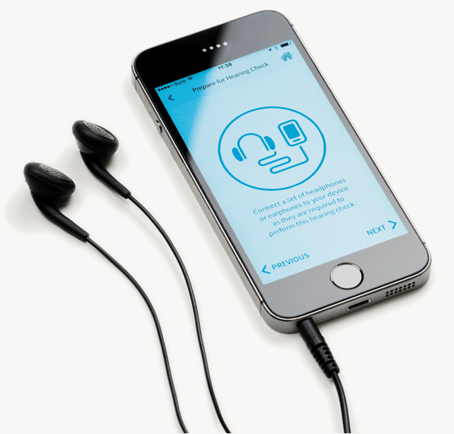 Check your hearing at home with our new hearing app